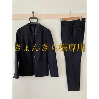 THE SUIT COMPANY - スーツカンパニー   ネイビーパンツスーツ