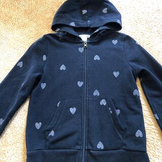エイチアンドエム(H&M)のH&M パーカー ハート ラメ 女の子 130 140 羽織り (ジャケット/上着)