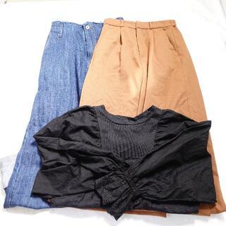 ダブルクローゼット(w closet)の■w closet... ブラウス パンツ レディース 3点セット(セット/コーデ)