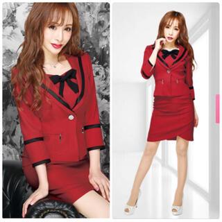 Andy - sobre 新品 リボン セットアップ スーツ レッド 赤 ドレス