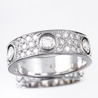 Cartier - 【仕上済】カルティエ ラブリング 14号 フルパヴェ&6Pダイヤ 指輪 リング