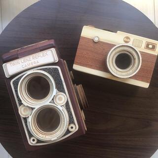 カルディ(KALDI)のKALDI 木製カメラ缶(小物入れ)