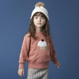 petit main - 【美品】プティマイン  カップケーキ トレーナー 110