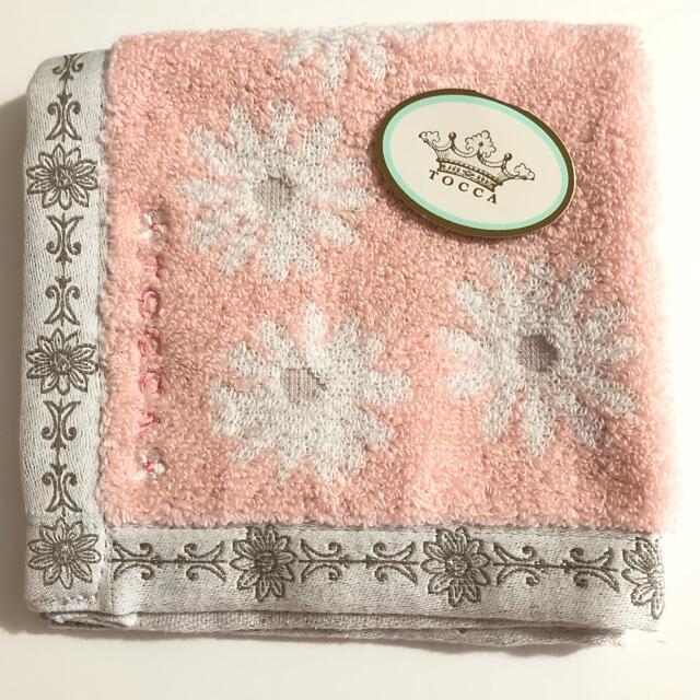 TOCCA(トッカ)のTOCCA  タオルハンカチ ピンク 新品未使用 レディースのファッション小物(ハンカチ)の商品写真