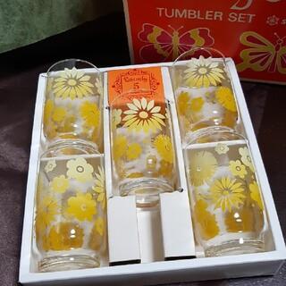 昭和レトロ 佐々木ガラス タンブラーセット5客