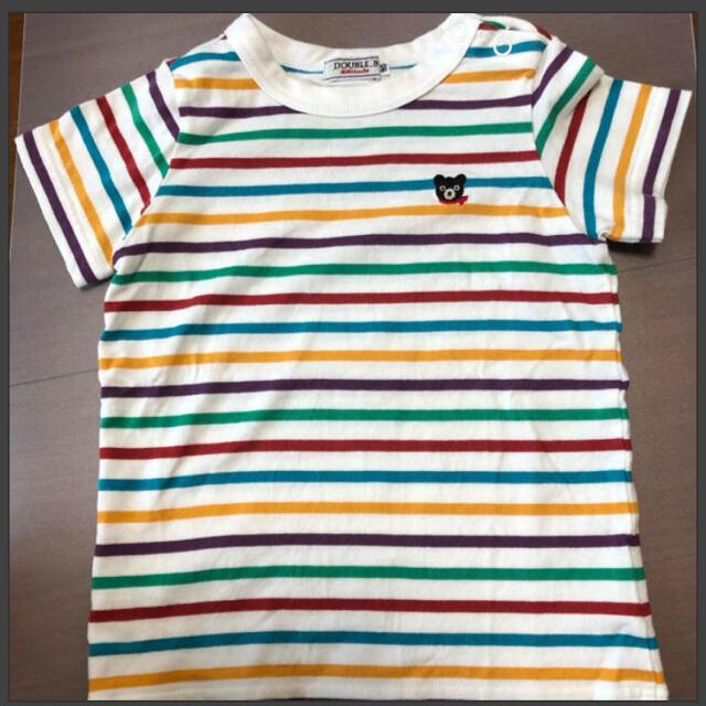 DOUBLE.B(ダブルビー)の☆ダブルビー☆ボーダーTシャツ☆ キッズ/ベビー/マタニティのキッズ服男の子用(90cm~)(Tシャツ/カットソー)の商品写真