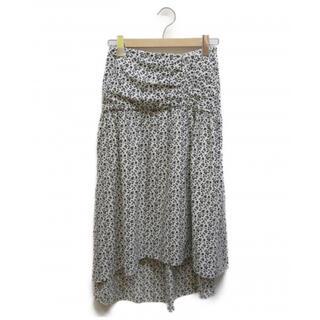 ドロシーズ(DRWCYS)のDRWCYS (ドロシーズ) 小花柄ギャザースカート ホワイト サイズ1(ひざ丈スカート)