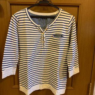 ライトオン(Right-on)のRAPUA      七分丈Tシャツ  M〜L(カットソー(長袖/七分))