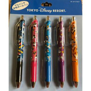Disney - ディズニーリゾート限定 ゲルインキボールペン5本セット