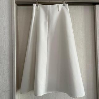 マルティニークルコント(martinique Le Conte)のmartinique  白Aラインスカート(ロングスカート)