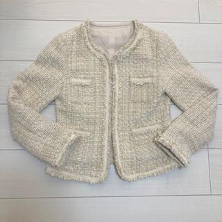 セレモニー ジャケット ツイード ベージュ 春 入学式 入園式