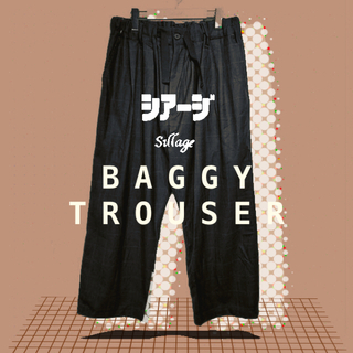 1LDK SELECT - sillage CHECK BAGGY TROUSER