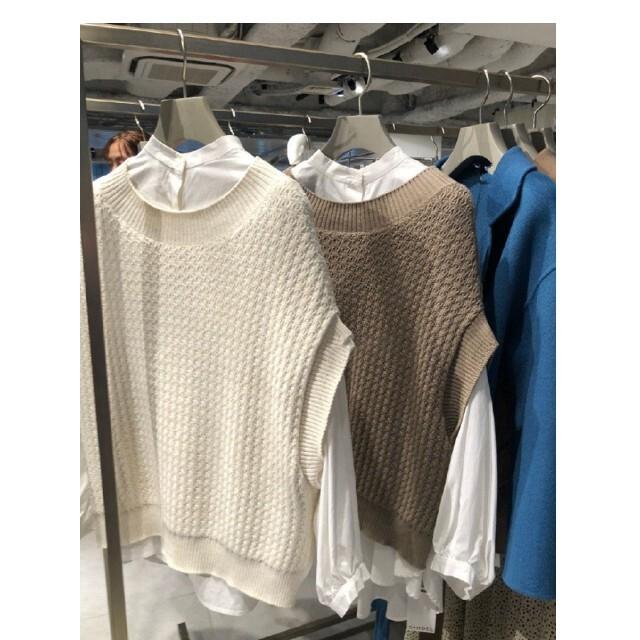 snidel(スナイデル)のシャツセットオーバーニットベスト レディースのトップス(ニット/セーター)の商品写真