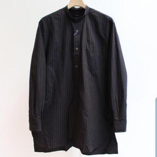 COMOLI - comoli チョークストライプ シャツ