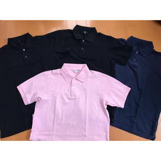 UNIQLO - ユニクロ ドライポロシャツ4枚セット メンズLサイズ ブラック ネイビー ピンク