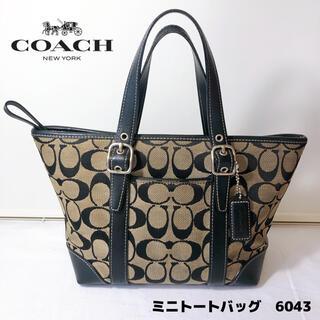 COACH - COACH コーチ ミニトートバッグ 6043 シグネチャー ブラック