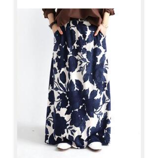 antiqua - アンティカ  花柄  ロングスカート