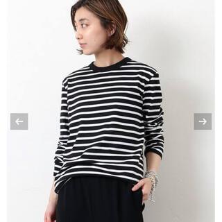ドゥーズィエムクラス(DEUXIEME CLASSE)の新品未使用 Coco Stripe T No5 ブラック(Tシャツ(長袖/七分))