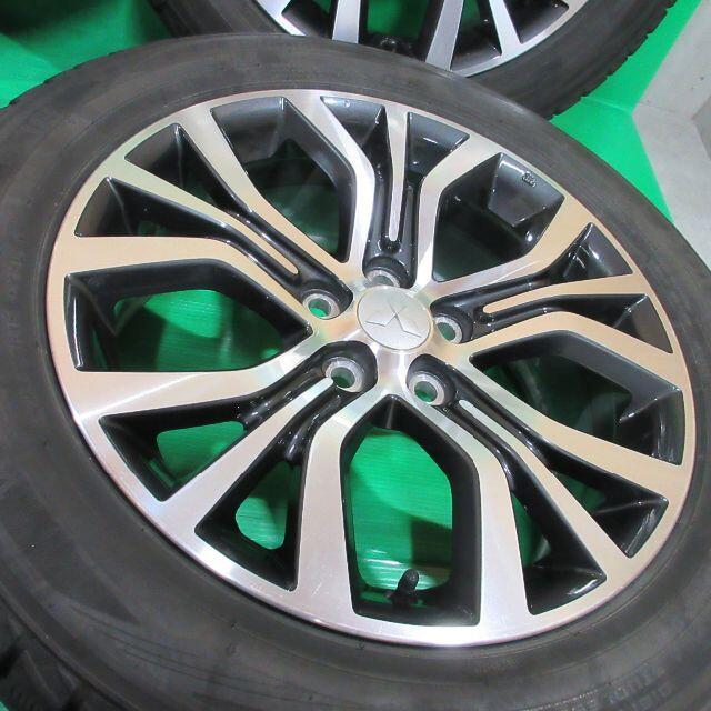三菱(ミツビシ)の送料込 アウトランダー純正 225/55R18 スタッドレス デリカD5 RVR 自動車/バイクの自動車(タイヤ・ホイールセット)の商品写真