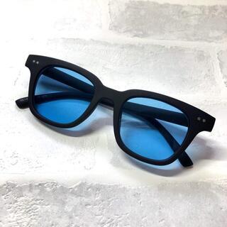 バイカーシェード マット/ライトブルー ウエリントン サングラス ボストン 眼鏡