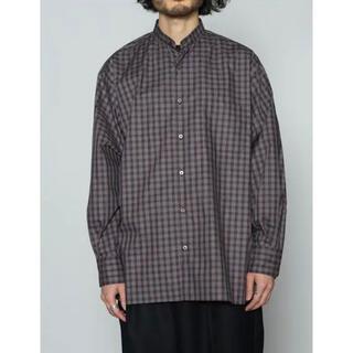 MARKAWEAR - markaware 20aw  マーカウェア バンドカラーシャツ チェック