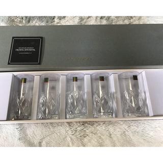 HOYA Crystal ビールグラス グラス 5個セット 新品未使用 ホヤ(グラス/カップ)