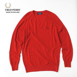 フレッドペリー(FRED PERRY)の希少★イングランド製 FRED PERRY Vネック ラグランセーター(ニット/セーター)