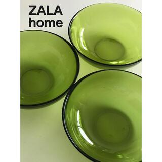 ZARA HOME - ZARA home ガラスの器 3個セット