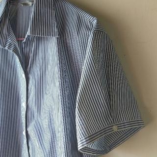 半袖シャツ ブラウス ストライプ 17号(シャツ/ブラウス(半袖/袖なし))