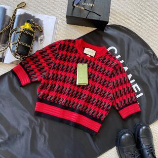 Gucci - 【GUCCI グッチ】千鳥格子柄のウールセーター