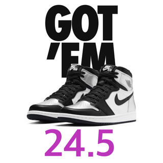 NIKE - AIR JORDAN 1 RETRO HIGH OG SILVER TOE