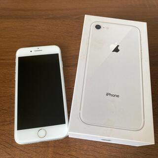 iPhone - 【中古品】iPhone8 シルバー 本体 充電器イヤホン無