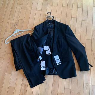 ZARA - ZARA 黒スーツ メンズスーツ スリーピース 新品
