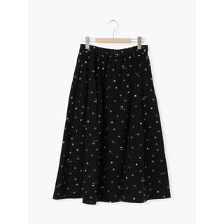 SM2 - 【サマンサモスモス】角砂糖とスプーンの総刺繍スカート ブラック