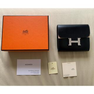 Hermes - エルメス コンスタンス コンパクト 2つ折り財布二つ折り ブラック黒 刻印あり