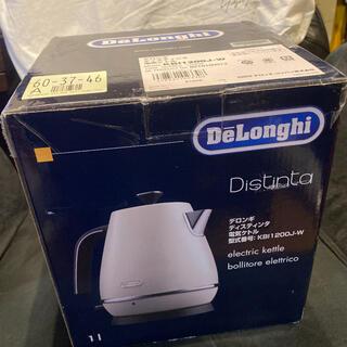 デロンギ(DeLonghi)のデロンギ 電気ケトル ディスティンタ KBI1200J-W 新品未使用(電気ケトル)