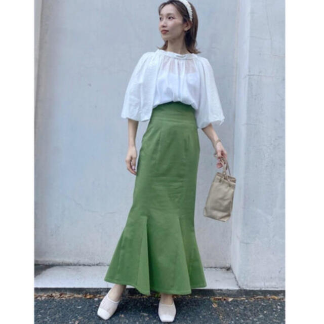 snidel(スナイデル)の新品 スナイデル ハイウエストヘムフレアスカート レディースのスカート(ロングスカート)の商品写真