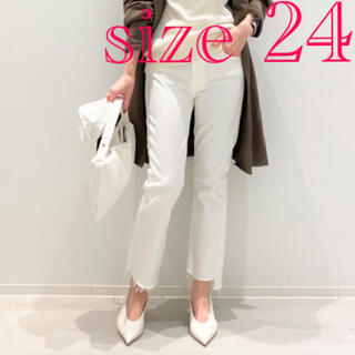 DEUXIEME CLASSE -  MOTHER White Insider Crop 24インチ ホワイトデニム