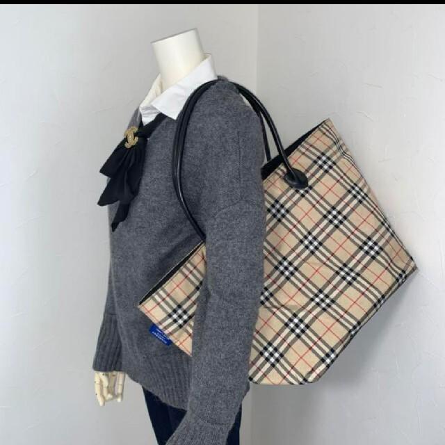 BURBERRY(バーバリー)のBurberry バーバリー トートバッグ ナイロン ハンドバッグ 大きめサイズ レディースのバッグ(トートバッグ)の商品写真