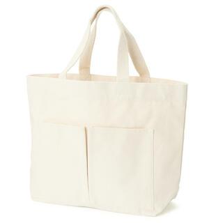 MUJI (無印良品) - インド綿横型マイトートバッグ 生成