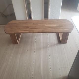 赤松集成材のテーブル ちゃぶ台 机(ローテーブル)