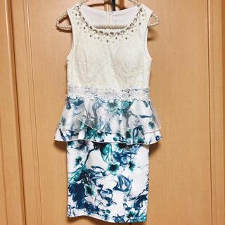 キャバドレス ナイトドレス ワンピース 花柄