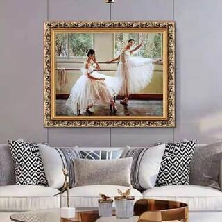 油絵 バレエを踊る女の子