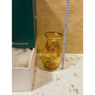 ボヘミア クリスタル(BOHEMIA Cristal)のチェコスロバキア製 ボヘミアングラス ボヘミアンガラス 花瓶 年代物 高島屋(花瓶)