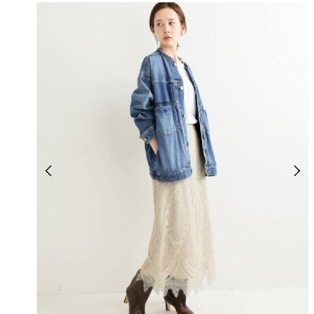 IENA(イエナ)のIENAリメイクルーズデニムブルゾン レディースのジャケット/アウター(Gジャン/デニムジャケット)の商品写真