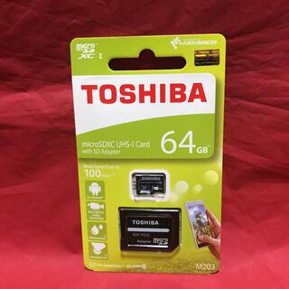 東芝 - TOSHIBA 東芝 SD変換アダプタ付 micro SDXC カード 64gb
