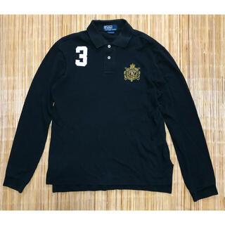 POLO RALPH LAUREN - ポロバイラルフローレン 90s ポロシャツ ラガーシャツ 長袖 黒