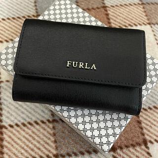 Furla - 美品 フルラ 折財布 ブラック 黒 三つ折り