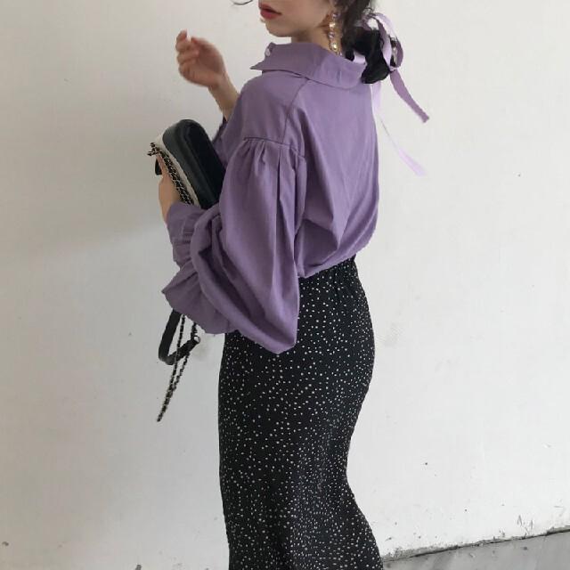 ZARA(ザラ)のパフスリーブ シャツ レディースのトップス(シャツ/ブラウス(長袖/七分))の商品写真
