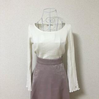 PROPORTION BODY DRESSING - proportion body dressing 袖口パール リブニット